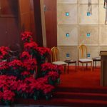 Sanctuary dressed for Christmas