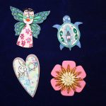 Angel Heart Flower and Turtle Pins