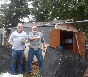 dave and don in action with shed