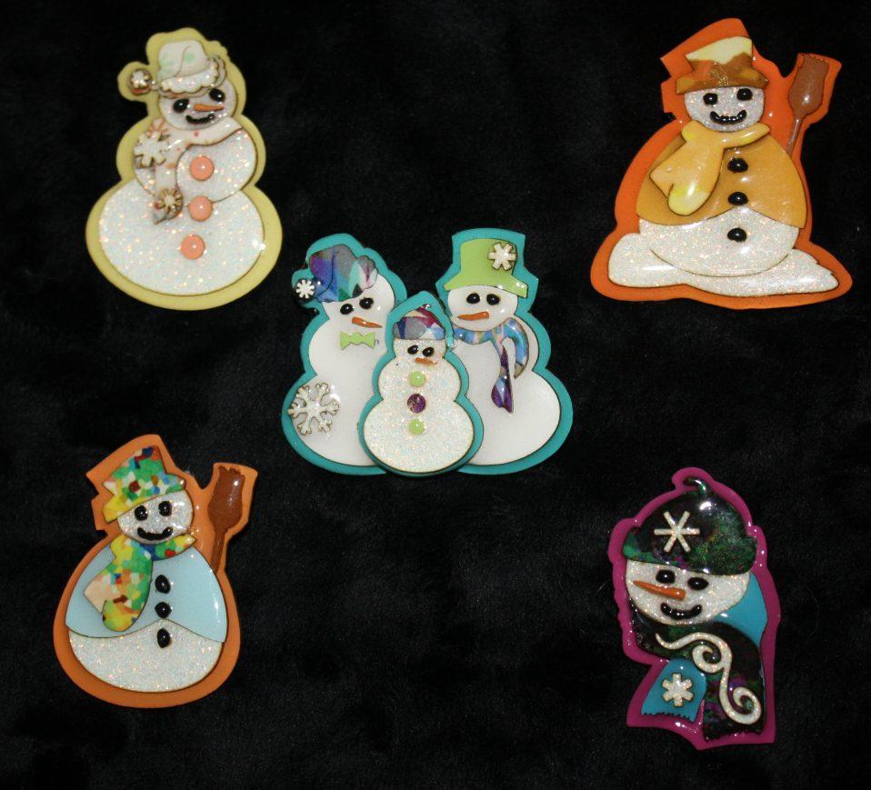 snowman pins