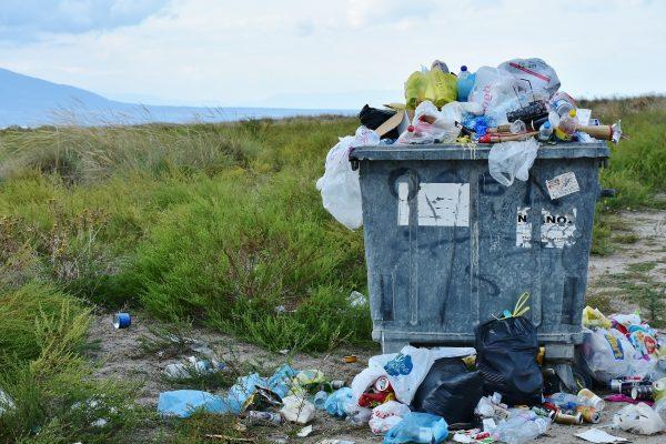 Trash dumpster full
