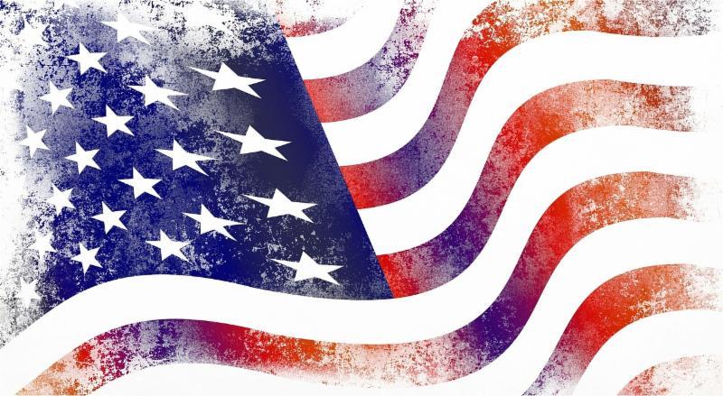 Waving Am flag