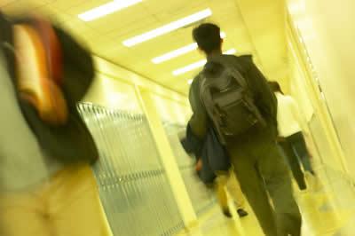 student-walking-hallway
