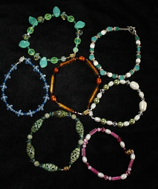 bracelets by Beading Babes