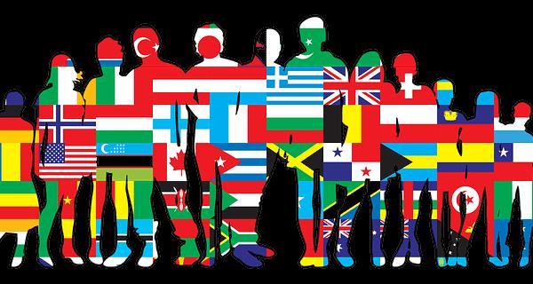 art-multi ethnic flags
