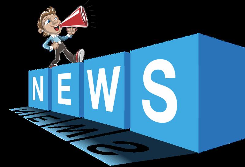 news blocks with man