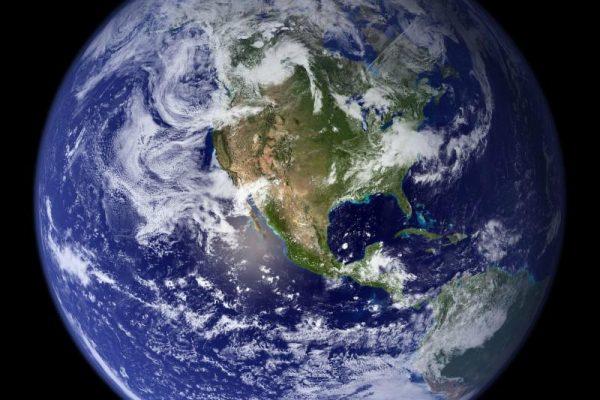 blue globe of earth